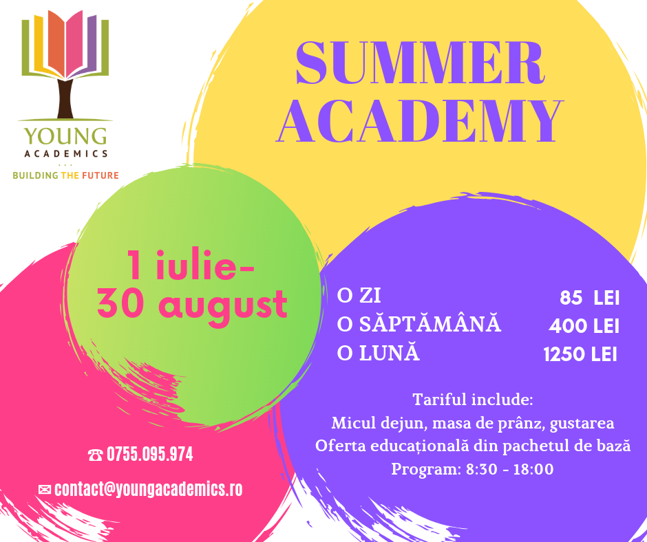 summer academy 2019 oferta